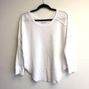 ARITZIA Tna Waffle Knit Long Sleeve Shirt White S
